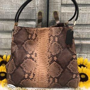 COACH Phoebe Exotic Snake Print Leather Bag 35209
